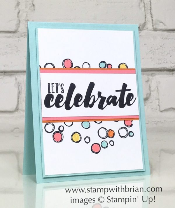 Happy Celebration, Playful Backgrounds, Stampin' Up!, Brian King, CTS247