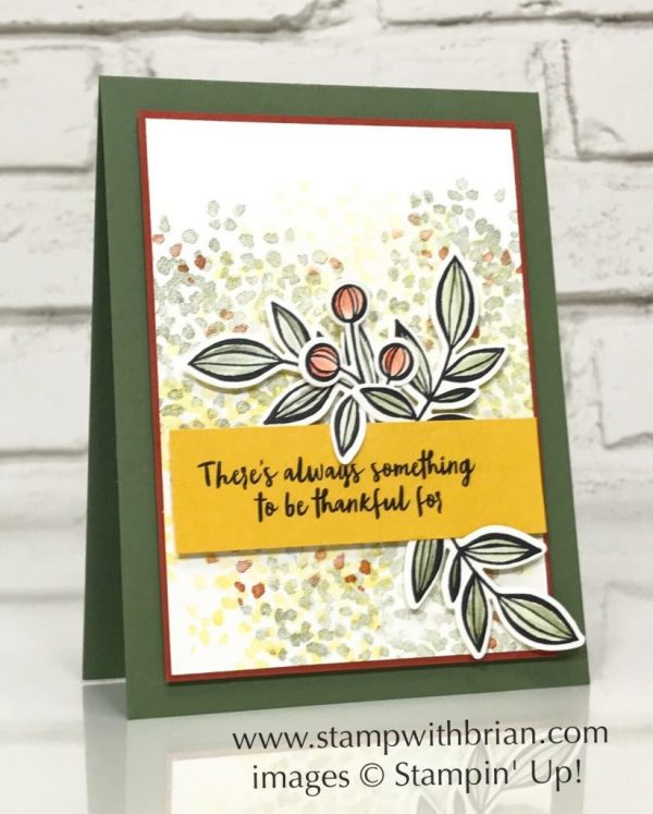Orange Blossom, Sheltering Tree, Falling Flowers, Stampin' Up!, Brian King, CTS246