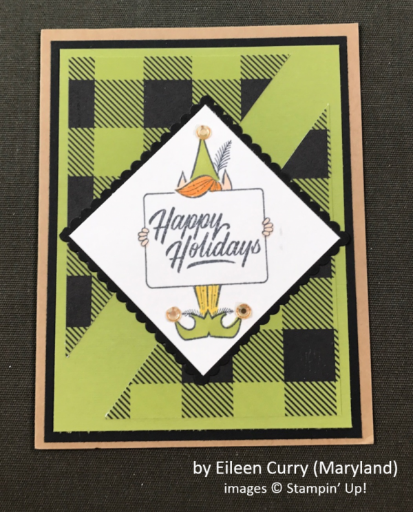 by Eileen Curry, Stampin' Up!, Holiday One-for-One Swap