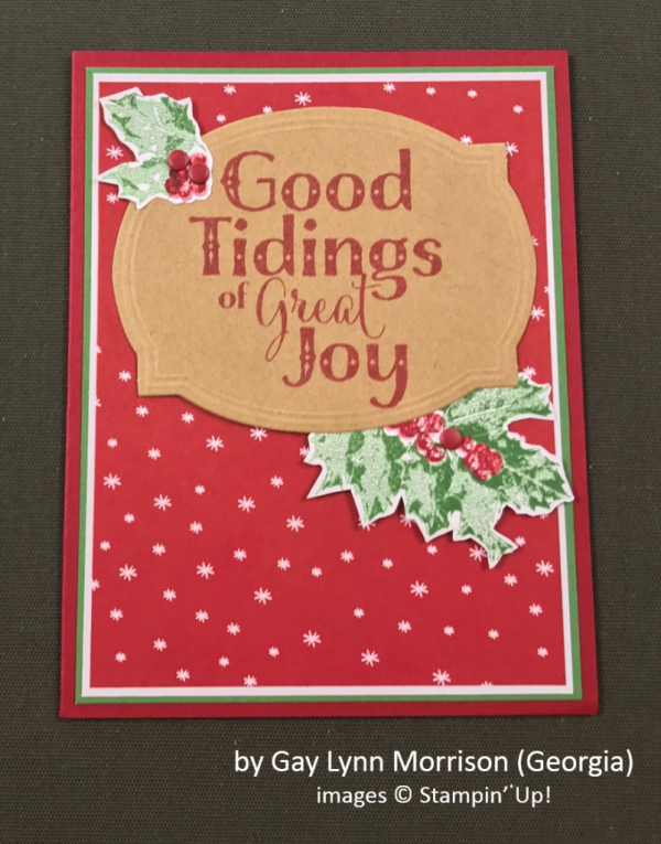 by Gay Lynn Morrison, Stampin' Up!, Holiday One-for-One Swap