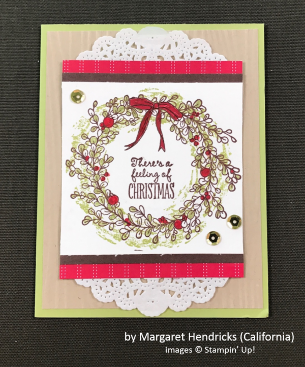 by Margaret Hendricks, Stampin' Up!, Holiday One-for-One Swap