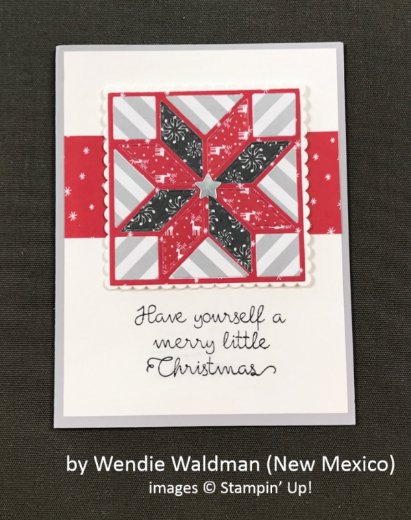 by Wendie Waldman, Stampin' Up!, Holiday One-for-One Swap