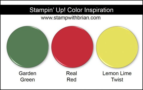 Stampin' Up! Color Inspiration: Garden Green, Real Red, Lemon Lime Twist