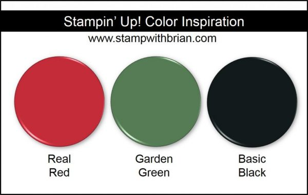 Stampin' Up! Color Inspiration: Real Red, Garden Green, Basic Black