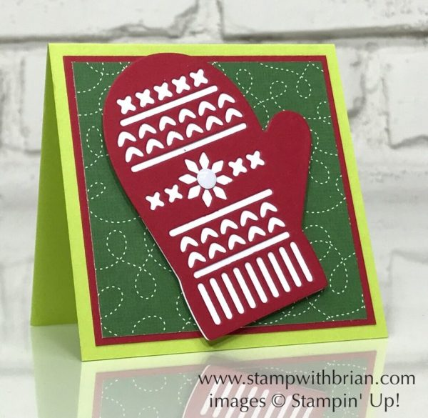 Many Mittens, Quilted Christmas Designer Series Paper, Stampin' Up!, Brian King