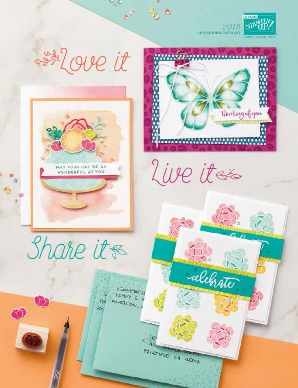 2018 Occasions Catalog, Stampin' Up!, Brian King