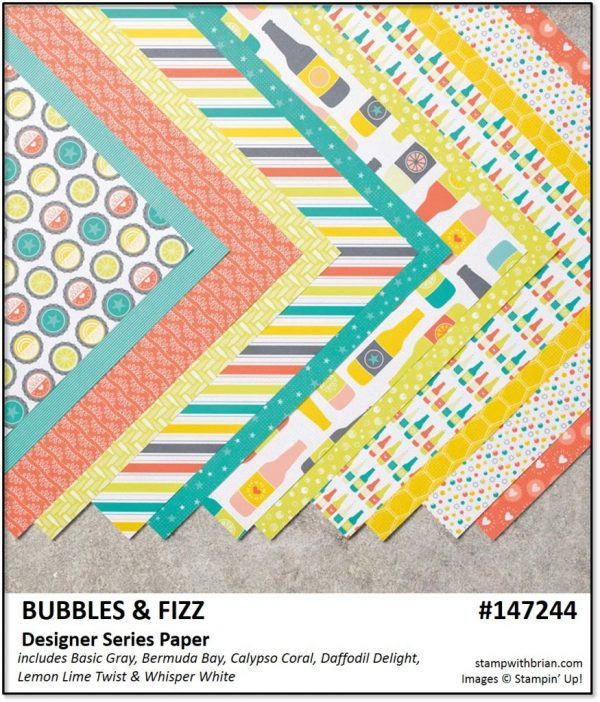 Bubbles & Fizz Designer Series Paper, Stampin' Up!, Brian King