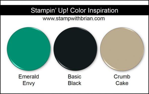Stampin' Up! Color Inspiration: Emerald Envy, Basic Black, Crumb Cake