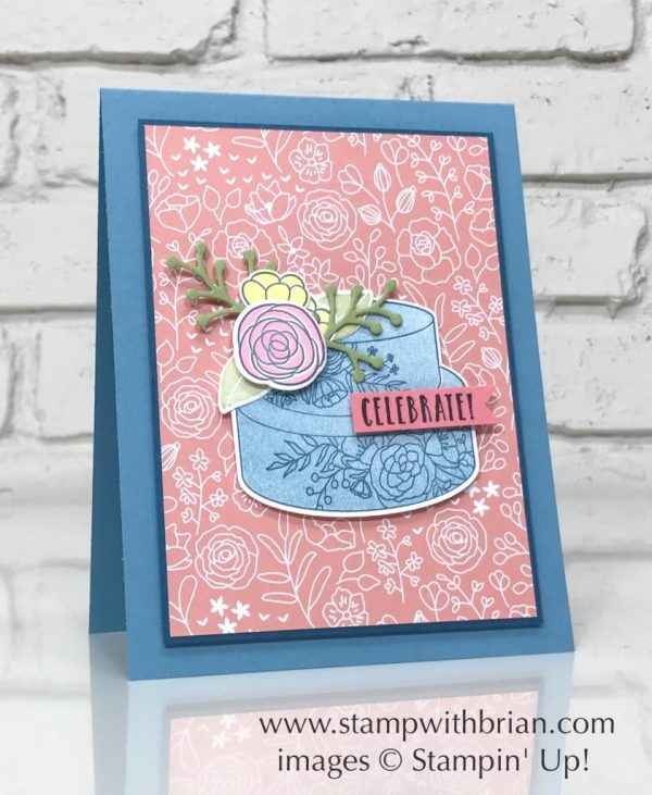 Cake Soirée, Sweet Soirée Designer Series Paper, Celebration Time, Stampin' Up!, CTS254
