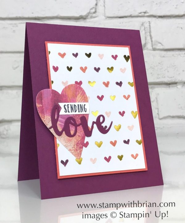 Hanging Garden, Sunshine Wishes Thinlits Dies, Lots to Love Framelits Dies, Stampin' Up!, Brian King, Valentine's Day card