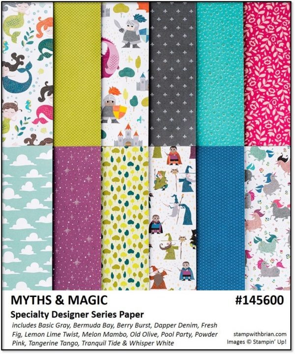 Myths & Magic Specialty Designer Series Paper, Stampin' Up!, Brian King 145600