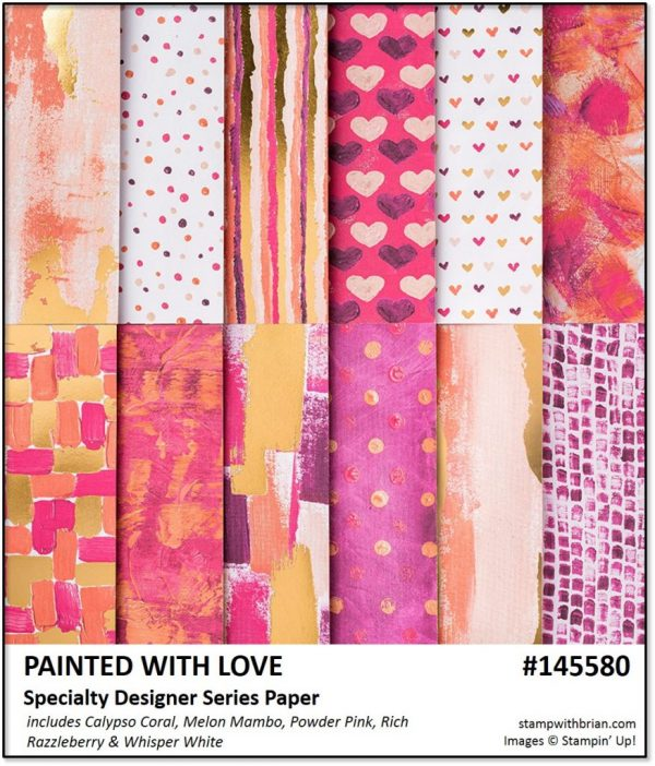 Painted with Love Speciatly Designer Series Paper, Stampin' Up! 145580
