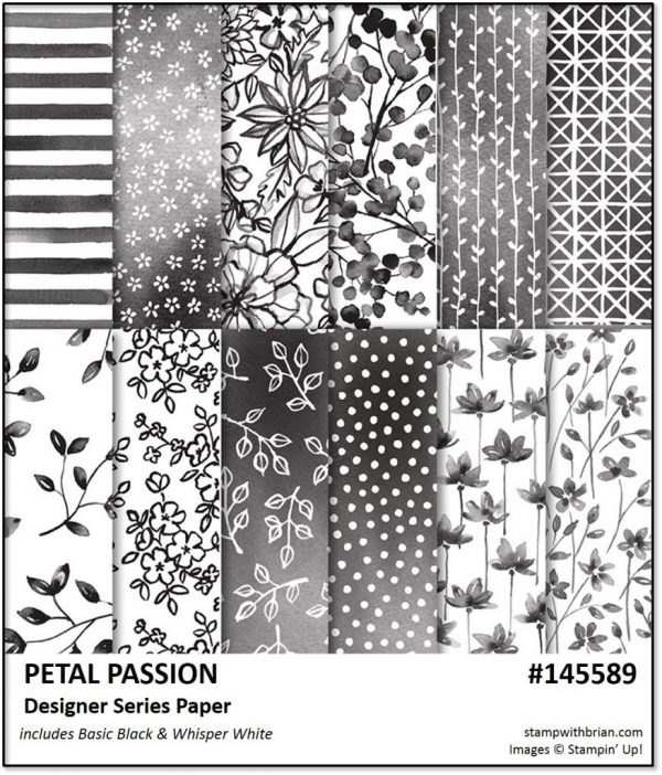 Petal Passion Designer Series Paper, Stampin' Up!, Brian King