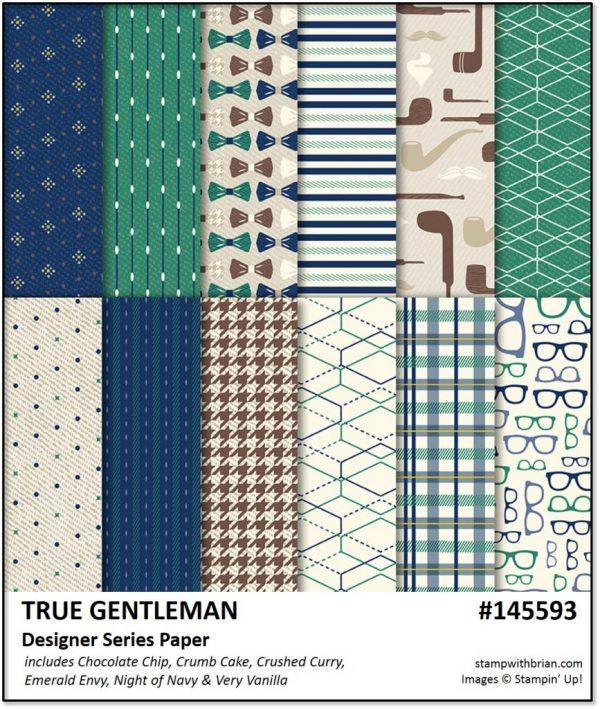 True Gentleman Designer Series Paper, Stampin' Up! 145593