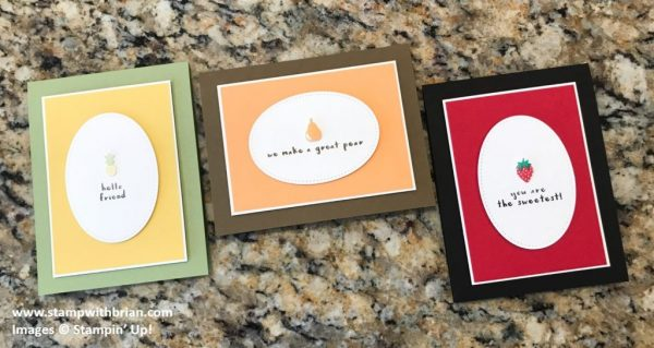 Fruit Basket Bundle, Stampin' Up!, Brian King, Valentine's Day cards