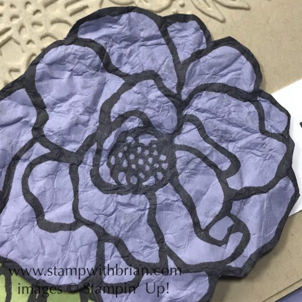 I crinkled the cardstock with Stampin' Mist for a lovely texture, Stampin' Up!, Brian King