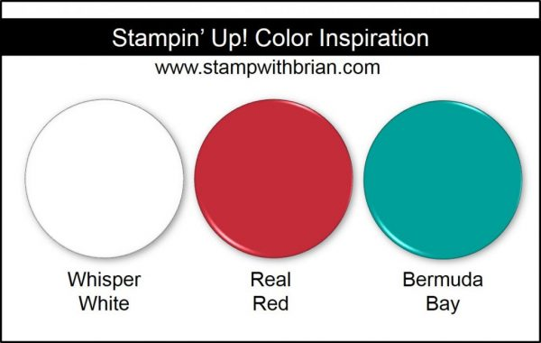 Stampin' Up! Color Inspiration: Whisper White, Real Red, Bermuda Bay