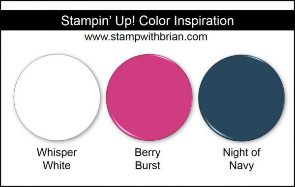 Stampin' Up! Color Inspiration: Whisper White, Berry Burst, Night of Navy