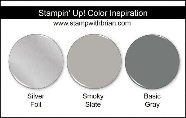 Stampin' Up! Color Inspiration: Silver Foil, Smoky Slate, Basic Gray