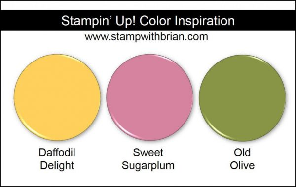 Stampin' Up! Color Inspiration: Daffodil Delight, Sweet Sugarplum, Old Olive