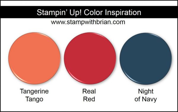 Stampin' Up! Color Inspiration: Tangerine Tango, Real Red, Night of Navy