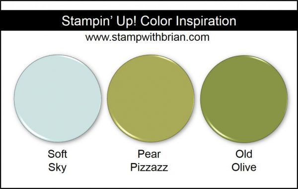 Stampin' Up! Color Inspiration: Soft Sky, Pear Pizzazz, Old Olive