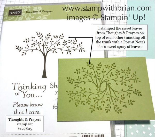 Create a beautiful border for a simple sentiment with Thoughts & Prayers stamp set, Stampin' Up!, Brian King