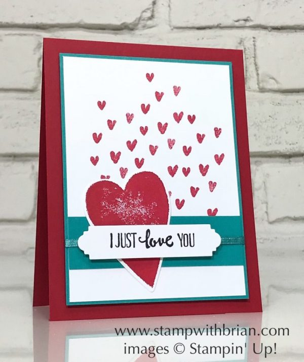 Petal Palette, Heart Happiness, Stampin' Up!, Brian King, Valentine's Day card