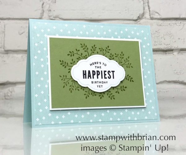 Thoughts & Prayers, Lots of Happy Card Kit, Label Me Pretty, Stampin' Up!, Brian King, birthday card