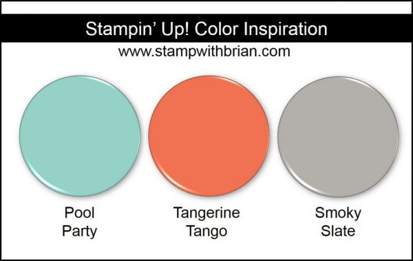 Stampin' Up! Color Inspiration: Pool Party, Tangerine Tango, Smoky Slate