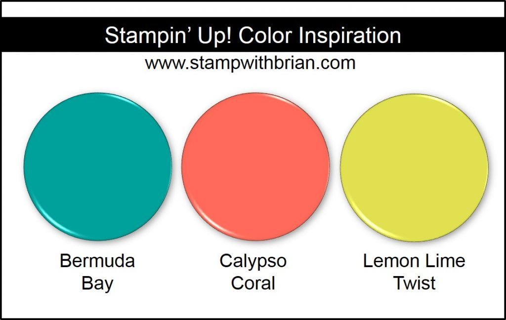 Stampin' Up! Color Inspiration: Bermuda Bay, Calypso Coral, Lemon Lime Twist