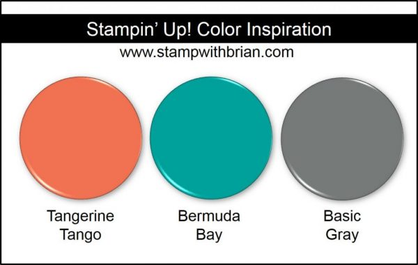 Stampin' Up! Color Inspiration: Tangerine Tango, Bermuda Bay, Basic Gray