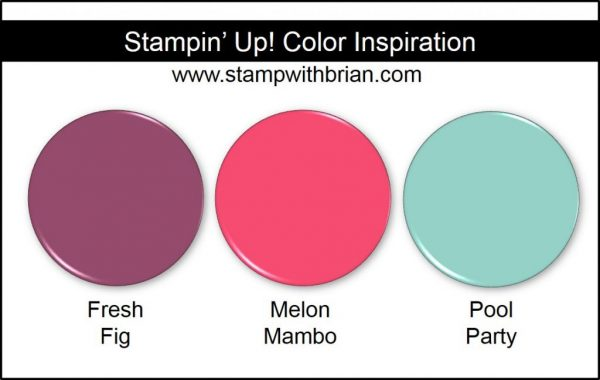 Stampin' Up! Color Inspiration: Fresh Fig, Melon Mambo, Pool Party