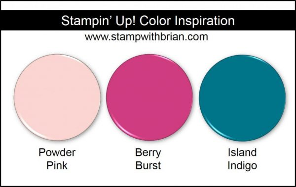 Stampin' Up! Color Inspiration: Powder Pink, Berry Burst, Island Indigo