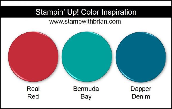Stampin' Up! Color Inspiration: Real Red, Bermuda Bay, Dapper Denim