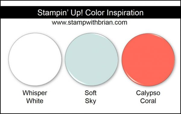 Stampin' Up! Color Inspiration: Whisper White, Soft Sky, Calypso Coral