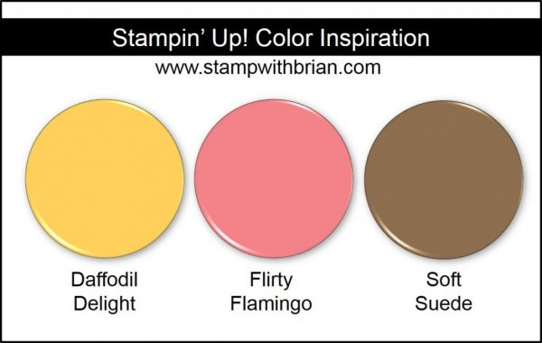 Stampin' Up! Color Inspiration: Daffodil Delight, Flirty Flamingo, Soft Suede