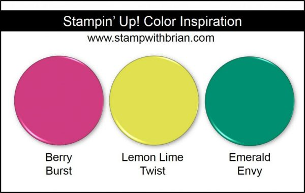 Stampin' Up! Color Inspiration: Berry Burst, Lemon Lime Twist, Emerald Envy