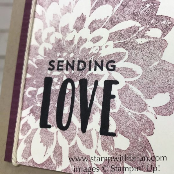 Definitely Dahlia, Lovely Inside & Out, Stampin' Up!, Brian King, sympathy card, CTS265