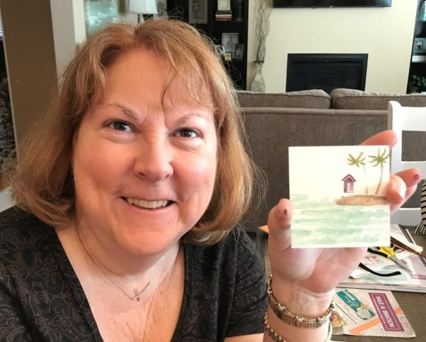 Nancy's warning - make sure the palm tree is not upside down, Waterfront, Stampin' Up!, Brian King