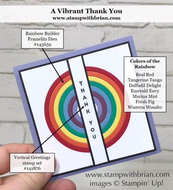 Rainbow Builder Framelits Dies, Vertical Greetings, Stampin' Up!, Brian King
