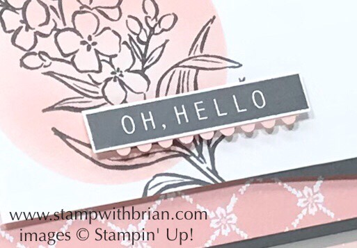 Use the remnants from the Ticket Tare Border Punch to create a small scallop, Stampin' Up!, Brian King