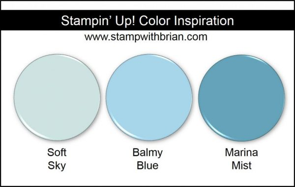 Balmy Blue Comparison, Stampin' Up! New Color: Soft Sky, Marina Mist