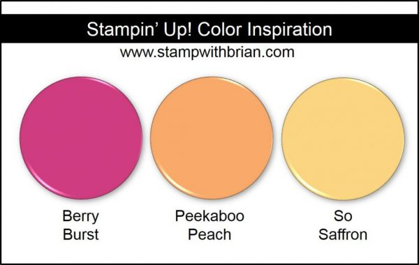 Stampin' Up! Color Inspiration: Berry Burst, Peekaboo Peach, So Saffron