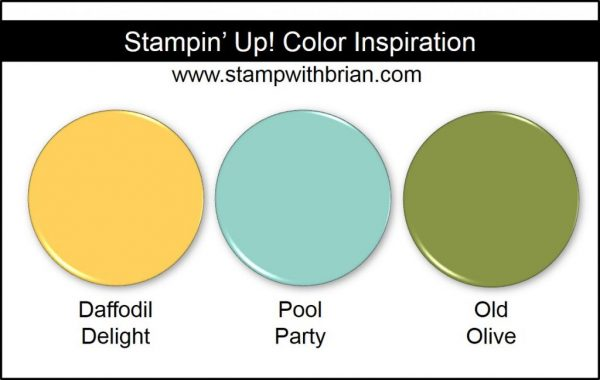 Stampin' Up! Color Inspiration: Daffodil Delight, Pool Party, Old Olive