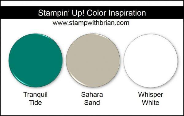 Stampin' Up! Color Inspiration: Tranquil Tide, Sahara Sand, Whisper White