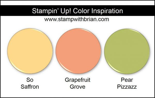 Stampin' Up! Color Inspiration: So Saffron, Grapefruit Grove, Pear Pizzazz
