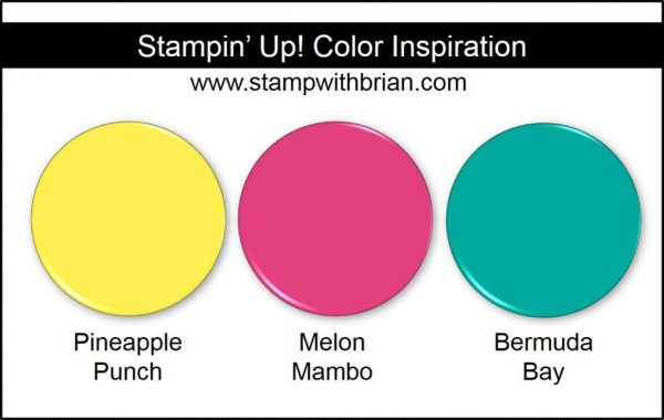 Stampin' Up! Color Inspiration: Pineapple Punch, Melon Mambo, Bermuda Bay