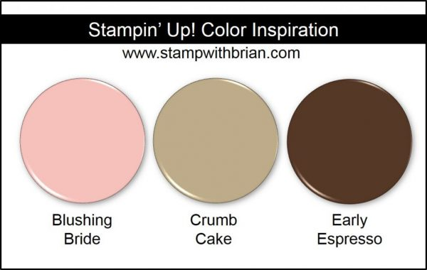 Stampin' Up! Color Inspiration: Blushing Bride, Crumb Cake, Early Espresso