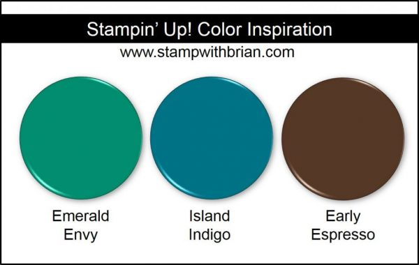Stampin' Up! Color Combination: Emerald Envy, Island Indigo, Early Espresso